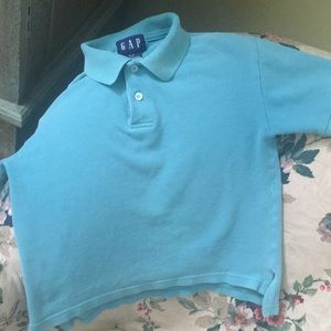 Pale teal Boys golf-style shirt